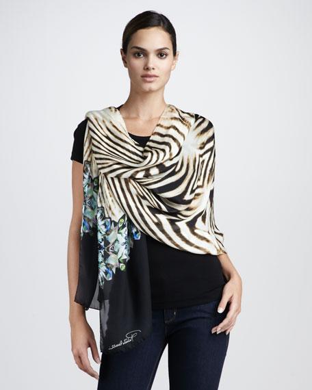 Zebra-Print Scarf