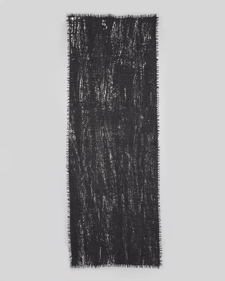 Splatter Metallic Stole, Black