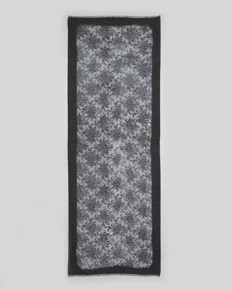 Lace-Print Stole