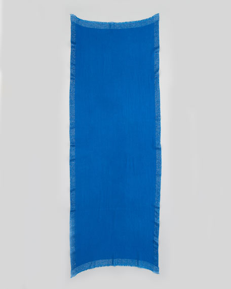 Metallic-Trim Stole, Blue