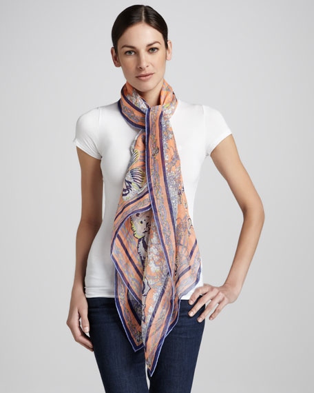 Papilio Butterfly Stole, Coral