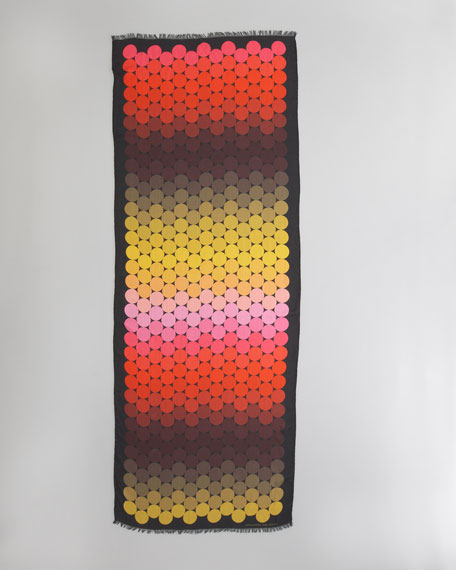Ombre Modal Scarf, Red/Yellow