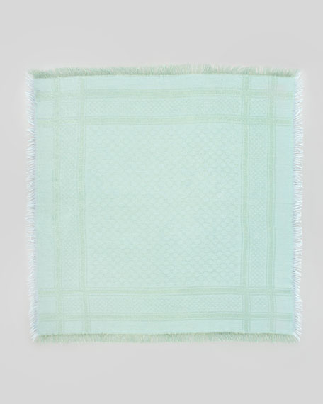 Cavendish Shimmer GG Logo Scarf, Turquoise Blue