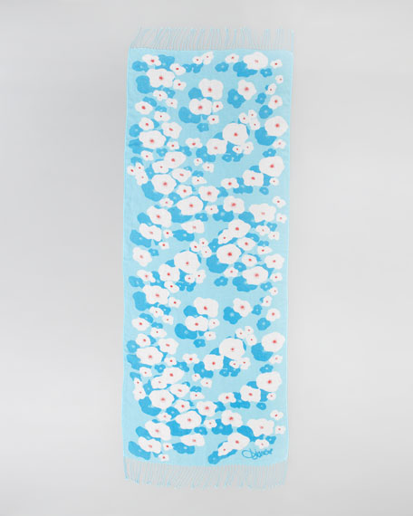 Daisy Pond Joss Scarf, Blue/White