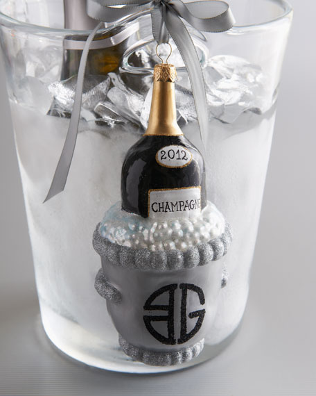 BG Champagne Bottle Ornament