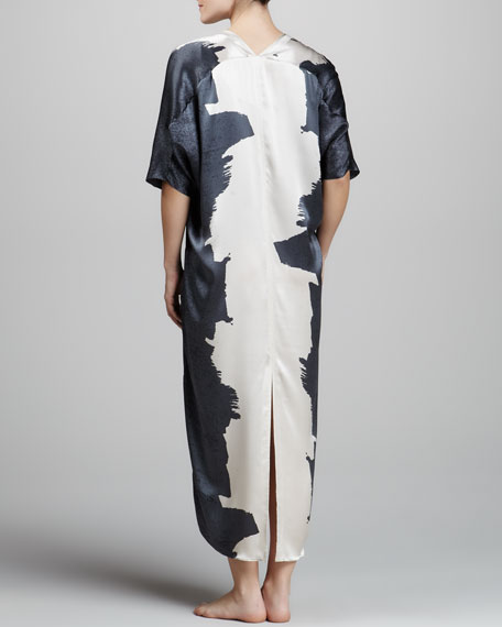 Twilight Two-Tone Silk Caftan
