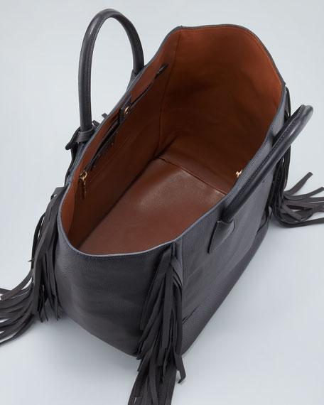 prada wallets pink - Prada Cervo Large Fringe Tote Bag, Black