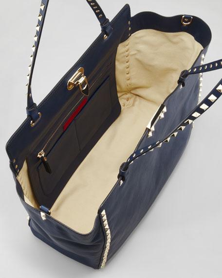Rockstud Tote Bag, Navy