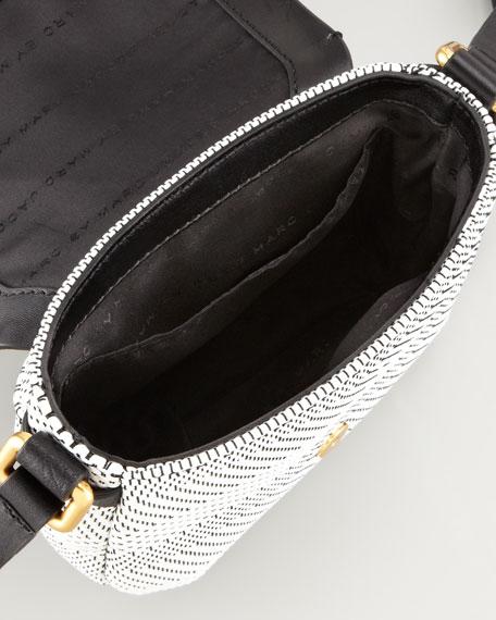 Werdie Wavy Isabelle Crossbody Bag, White/Black