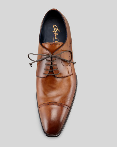 Brogue Cap-Toe Lace-Up Blucher