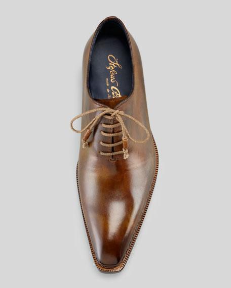 Plain-Toe Lace-Up, Brown