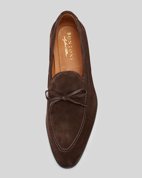 Desica Suede Front-Tie Loafer