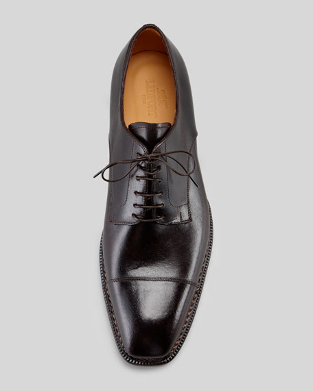Cap-Toe Leather Blucher