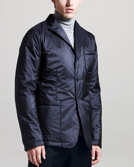 Padded Three-Button Sport Jacket