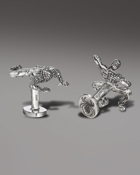 Crawling Spiderman Cuff Links