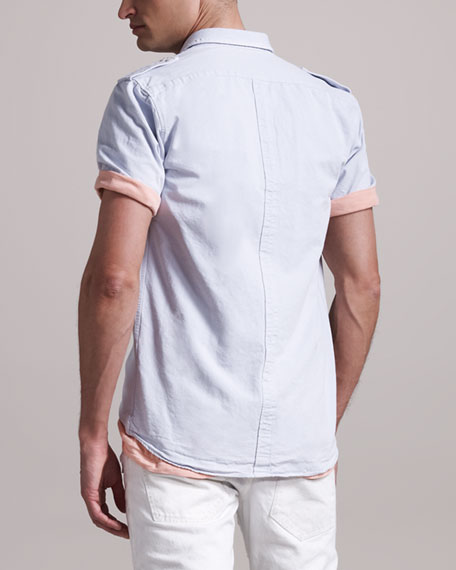 Short-Sleeve Military Shirt