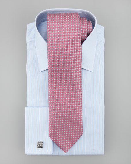 Pinstripe French-Cuff Dress Shirt