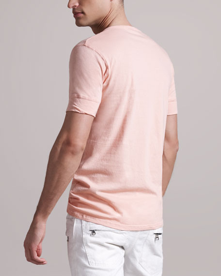 Tunisian Short-Sleeve Henley