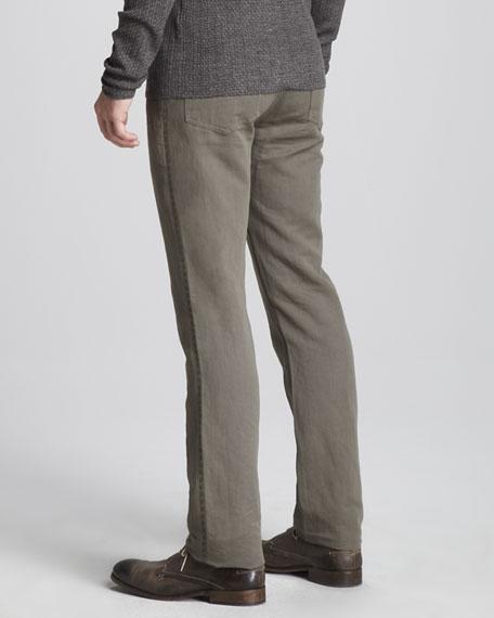 Slim Linen-Blend Jeans