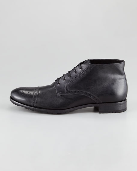 Cap-Toe Lace-Up Chukka Boot