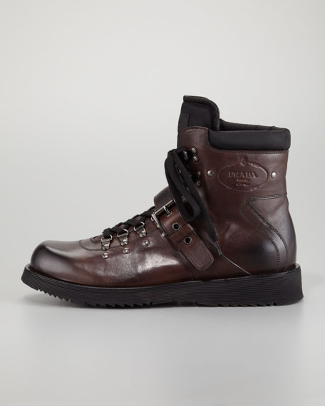 Strap Hiker Boot, Brown