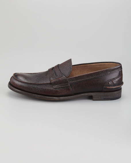 Pebbled Spazzolato Loafer