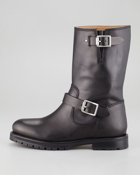 York Leather Biker Boot