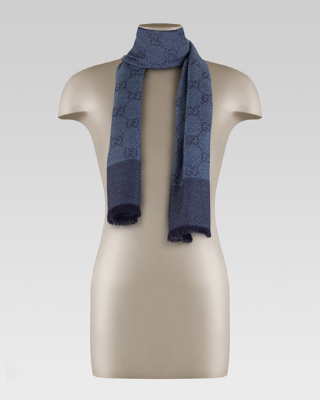 GG Patter Scarf, Blue