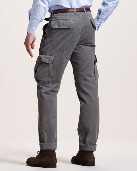 Basic Cargo Pants, Gray