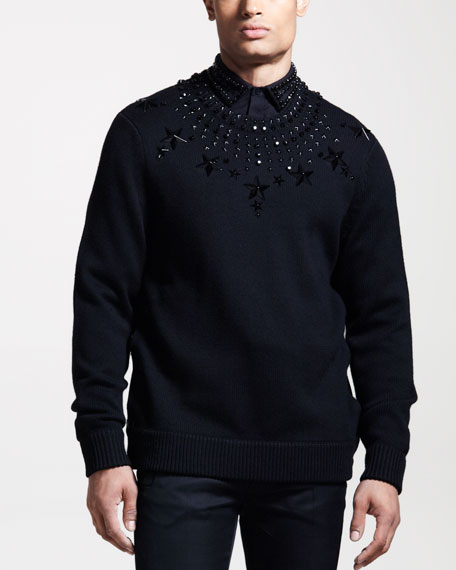 Beaded Star Sweater