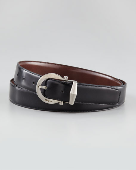 Reversible Polished Leather Belt
