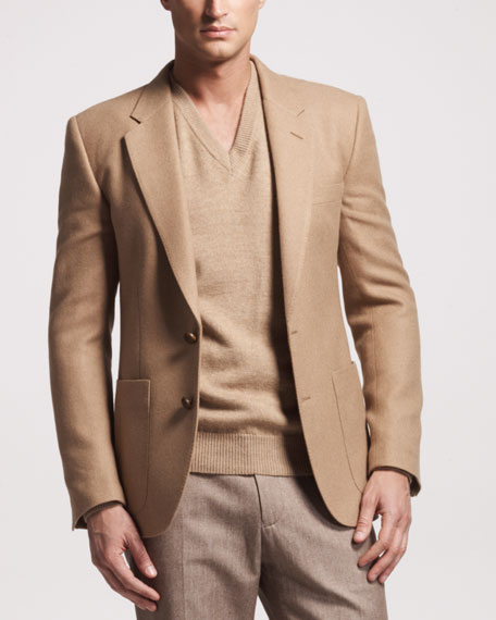 Camel Hair Side-Pocket Sport Coat