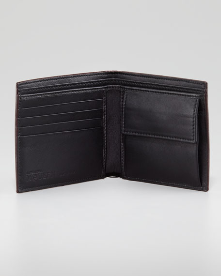 Brogue Skull Classic Wallet, Oxblood