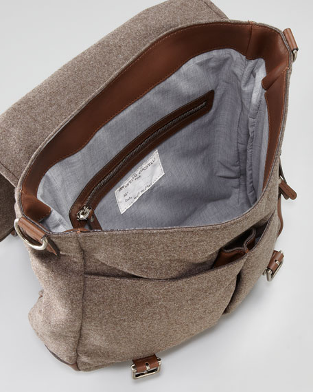 Flannel Crossbody Messenger Bag