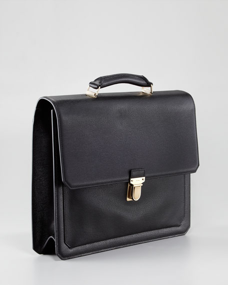Gusset Flap Briefcase