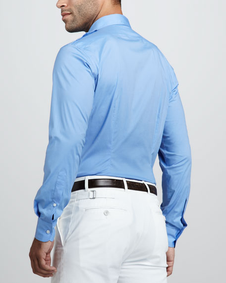 Two-Pocket Military Shirt, Tyler Blue