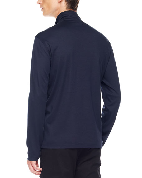 Two-Pocket Jersey Pullover, Navy