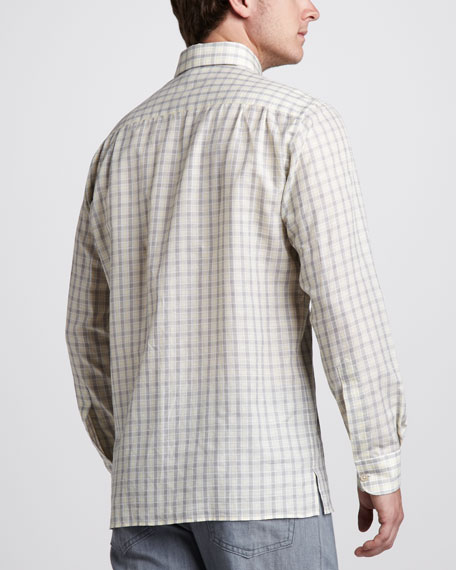 Check Cotton/Linen Shirt