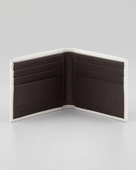 Melrose Perforated Bi-Fold Wallet, Ivory