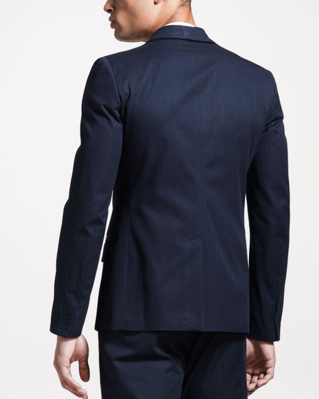 Satin-Trim Evening Jacket