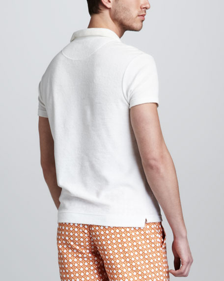 Terry Toweling Polo, White