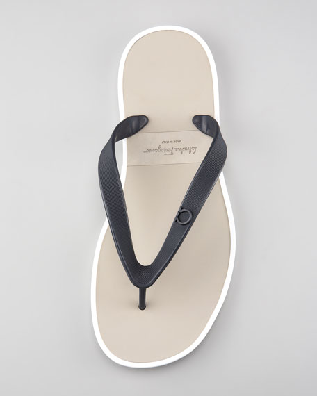 Gym Rubber Thong Sandal, Blue