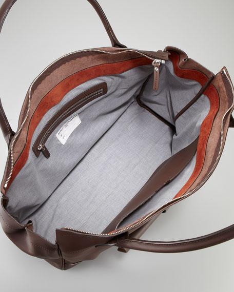 Front-Pocket Large Zip Tote Bag