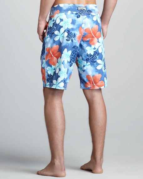 Ocean Floral-Print Boardshorts