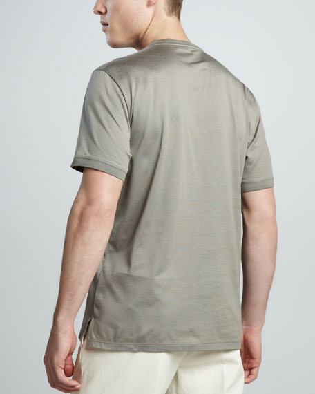 Crewneck Tee, Leaden Gray