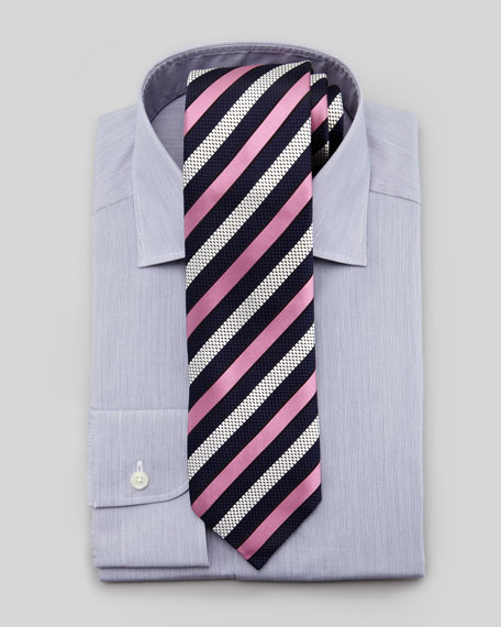 Mini-Stripe Dress Shirt, Navy