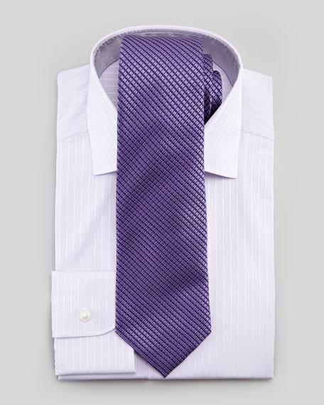 Tonal-Stripe Dress Shirt, Lavender