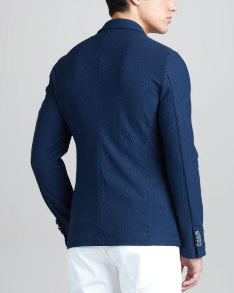 Mesh Three-Button Jacket