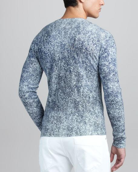 Printed Twill Sweater
