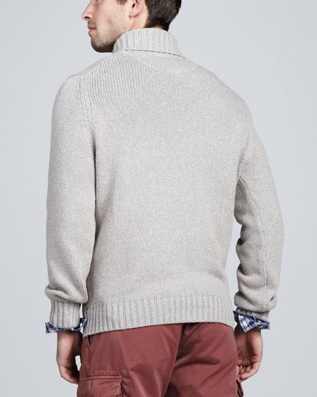 Chunky Shawl-Collar Sweater